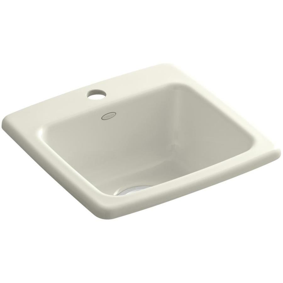 KOHLER Gimlet Biscuit 1-Hole Acrylic Drop-in Commercial/Residential Bar Sink