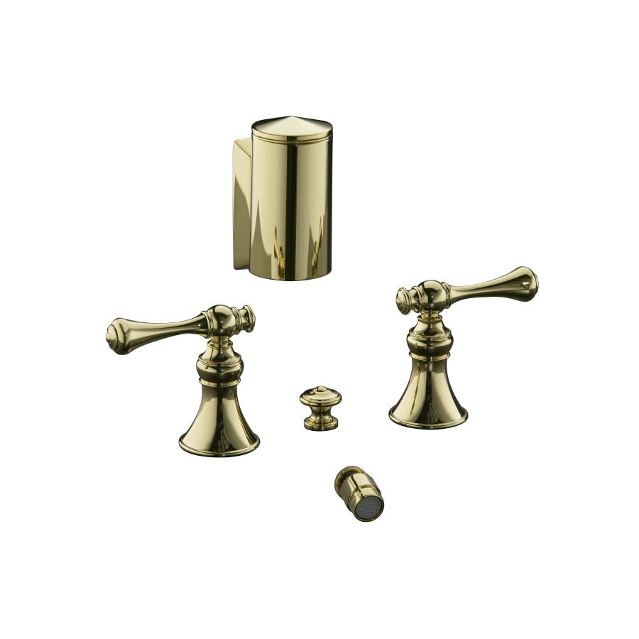 KOHLER Revival Vibrant Polished Brass Vertical Spray Bidet Faucet