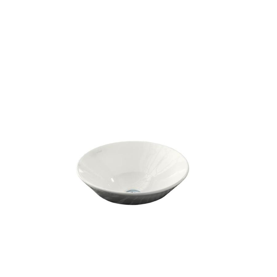 KOHLER Conical Bell White Vessel Round Bathroom Sink
