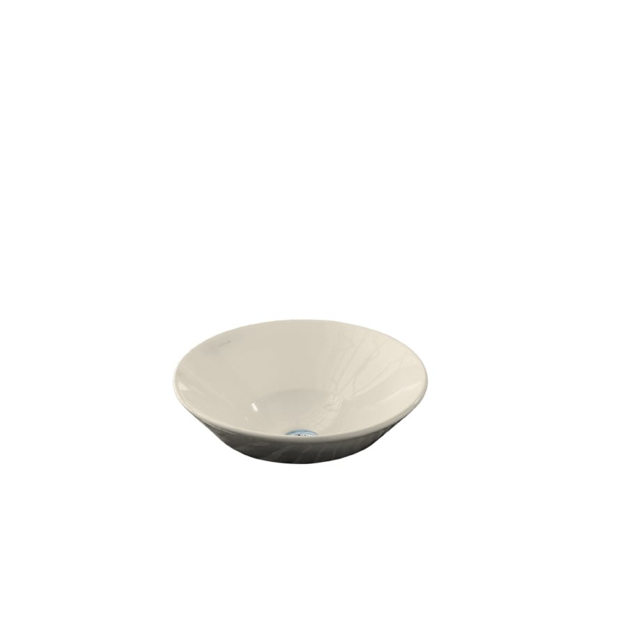 Kohler conical bell almond vessel round bathroom sink at - Decorating with almond bathroom fixtures ...