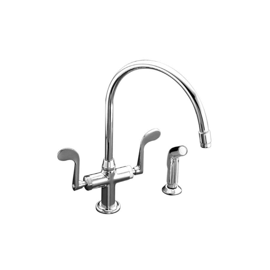 KOHLER Essex Polished Chrome 2-Handle High-Arc Kitchen Faucet