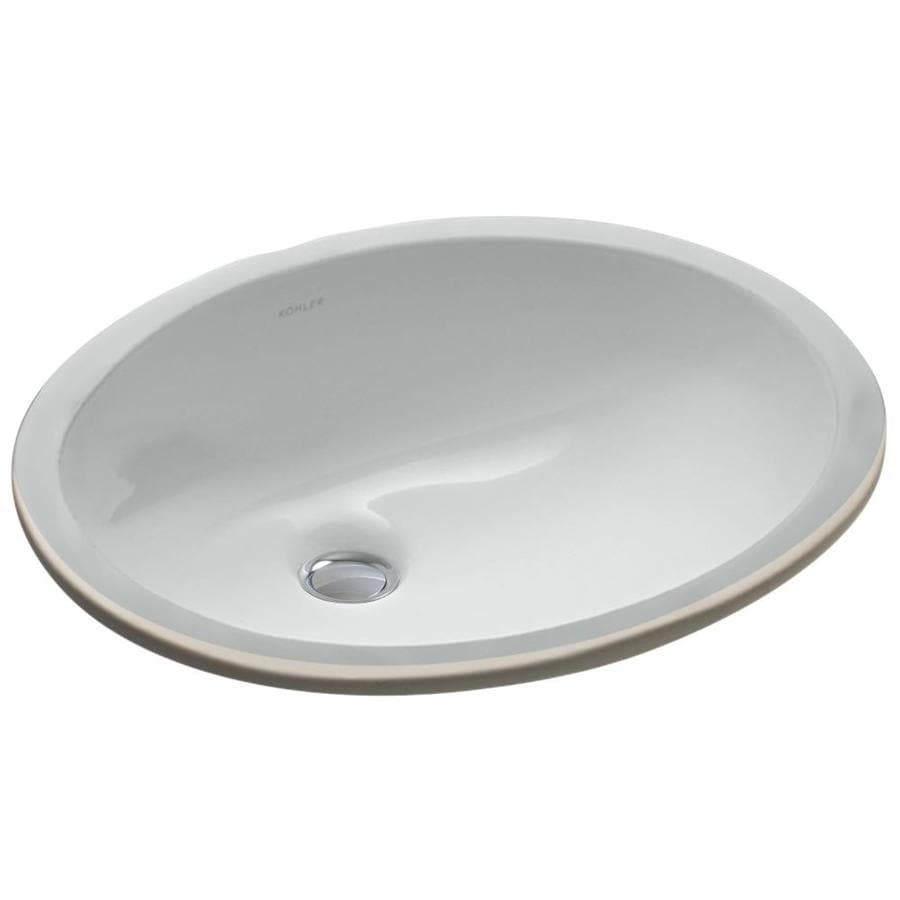 Oval Sink Bathroom : ... Ice Grey Undermount Oval Bathroom Sink with Overflow at Lowes.com