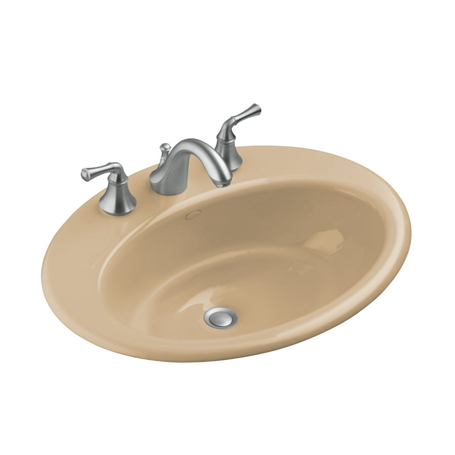kohler cast iron bathroom sink shop kohler cast iron bathroom sink at lowes 23584