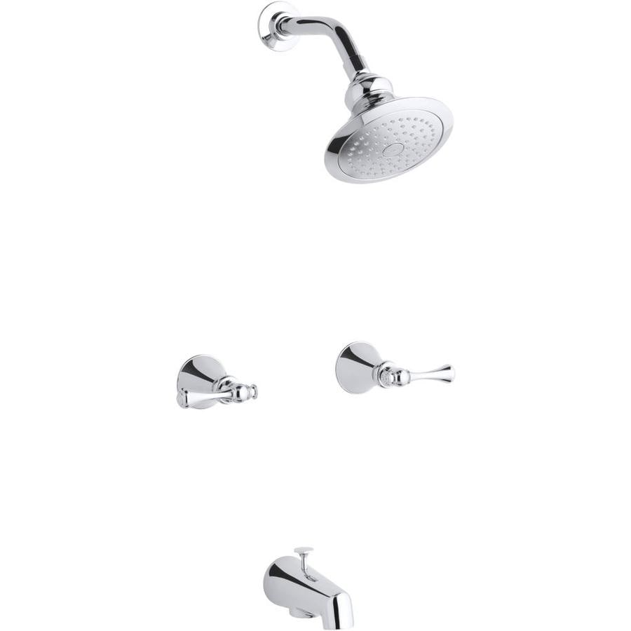 KOHLER Revival Polished Chrome 2-Handle Bathtub and Shower Faucet with Single Function Showerhead