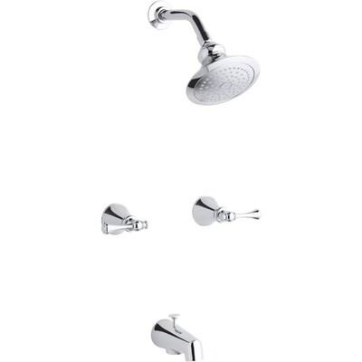Kohler Revival Polished Chrome 2 Handle Bathtub And Shower Faucet