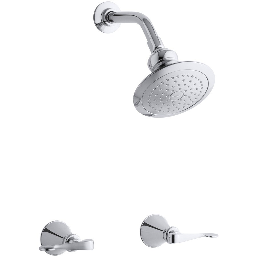 KOHLER Revival Polished Chrome 2-Handle Shower Faucet with Single Function Showerhead