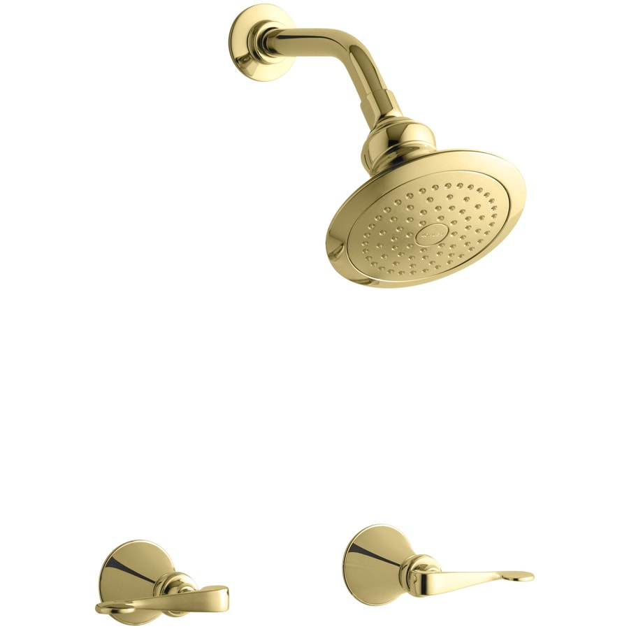 KOHLER Revival Vibrant Polished Brass 2-Handle Shower Faucet with Single Function Showerhead