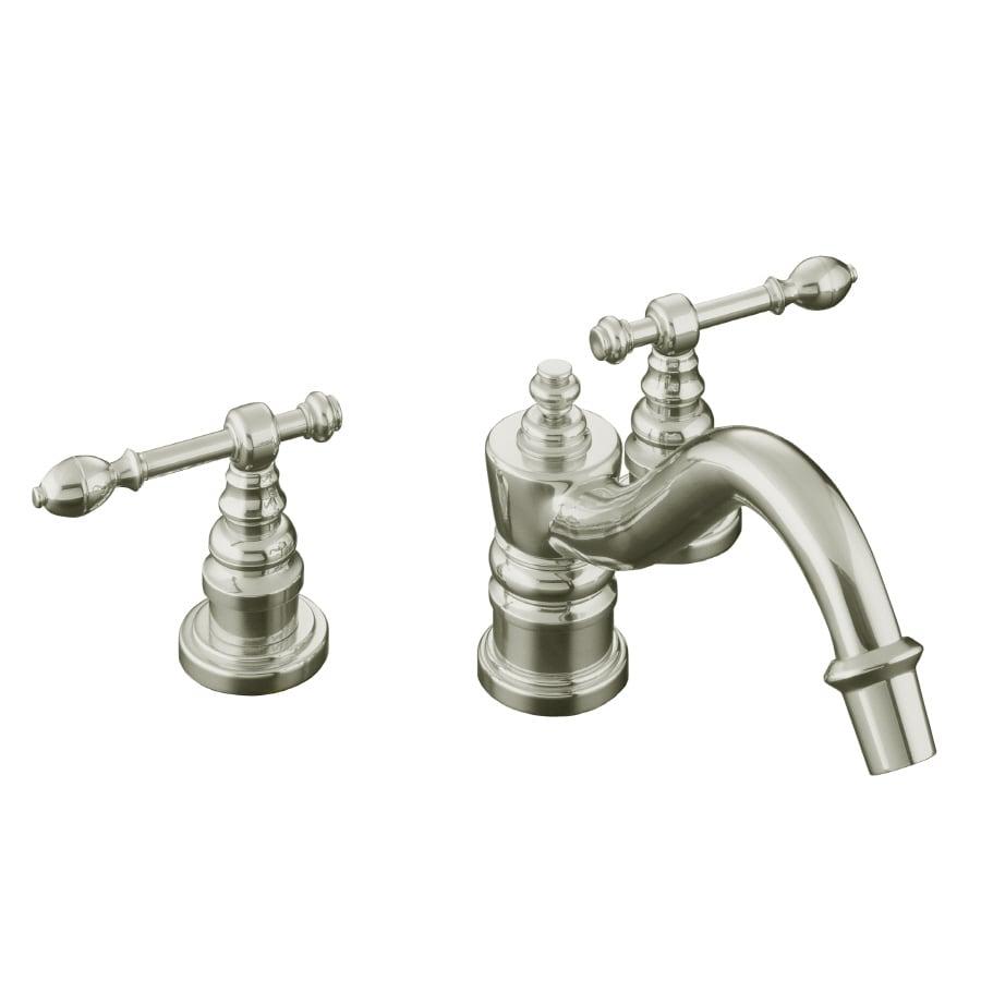 KOHLER IV Georges Brass Vibrant Polished Nickel 2-Handle Fixed Deck Mount Bathtub Faucet