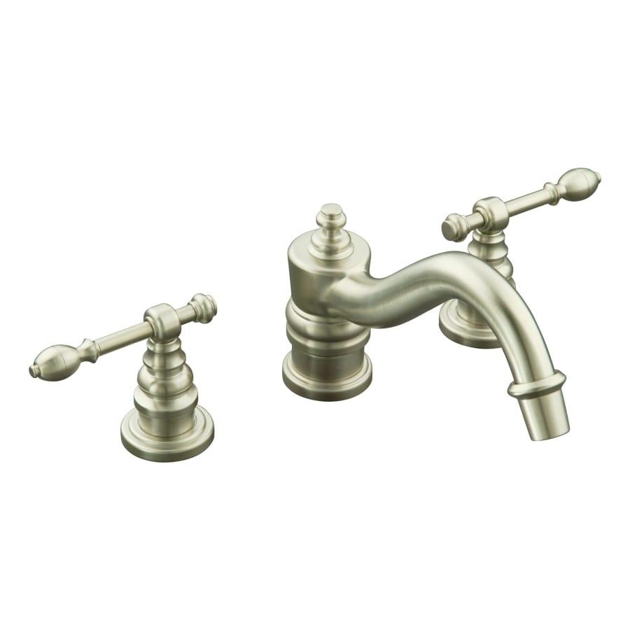 Kohler Brass Faucet : KOHLER IV Georges Brass Vibrant Brushed Nickel 2-Handle Fixed Deck ...