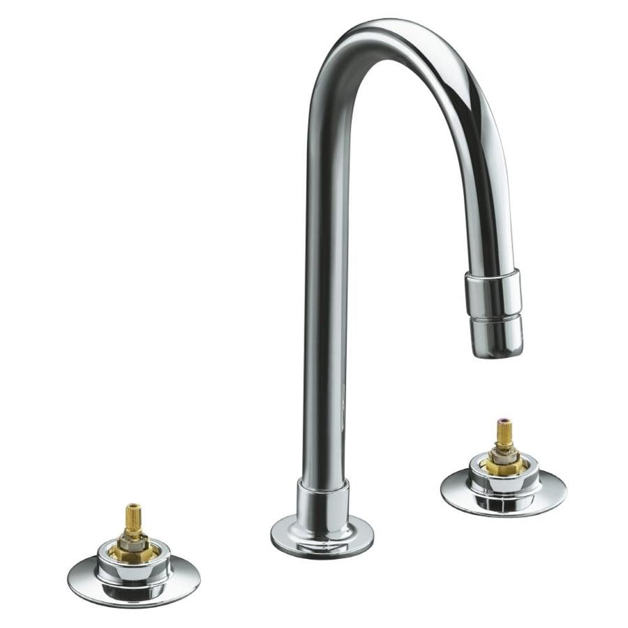 Shop KOHLER Triton Polished Chrome 2-Handle Commercial Bathroom Faucet ...