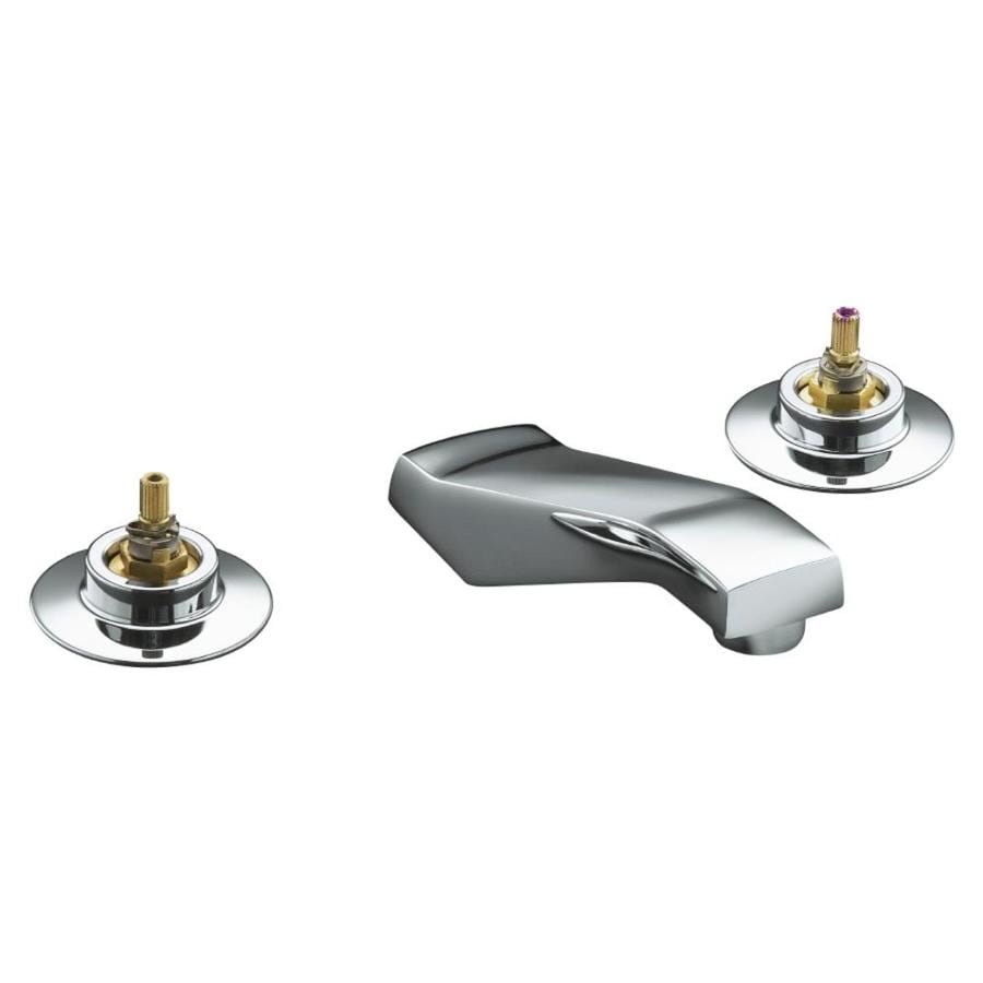 KOHLER Triton Polished Chrome 2-Handle Widespread Commercial Bathroom Faucet
