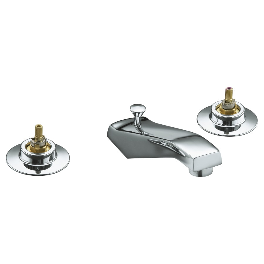 KOHLER Triton Polished Chrome 2-Handle Widespread Bathroom Faucet (Drain Included)