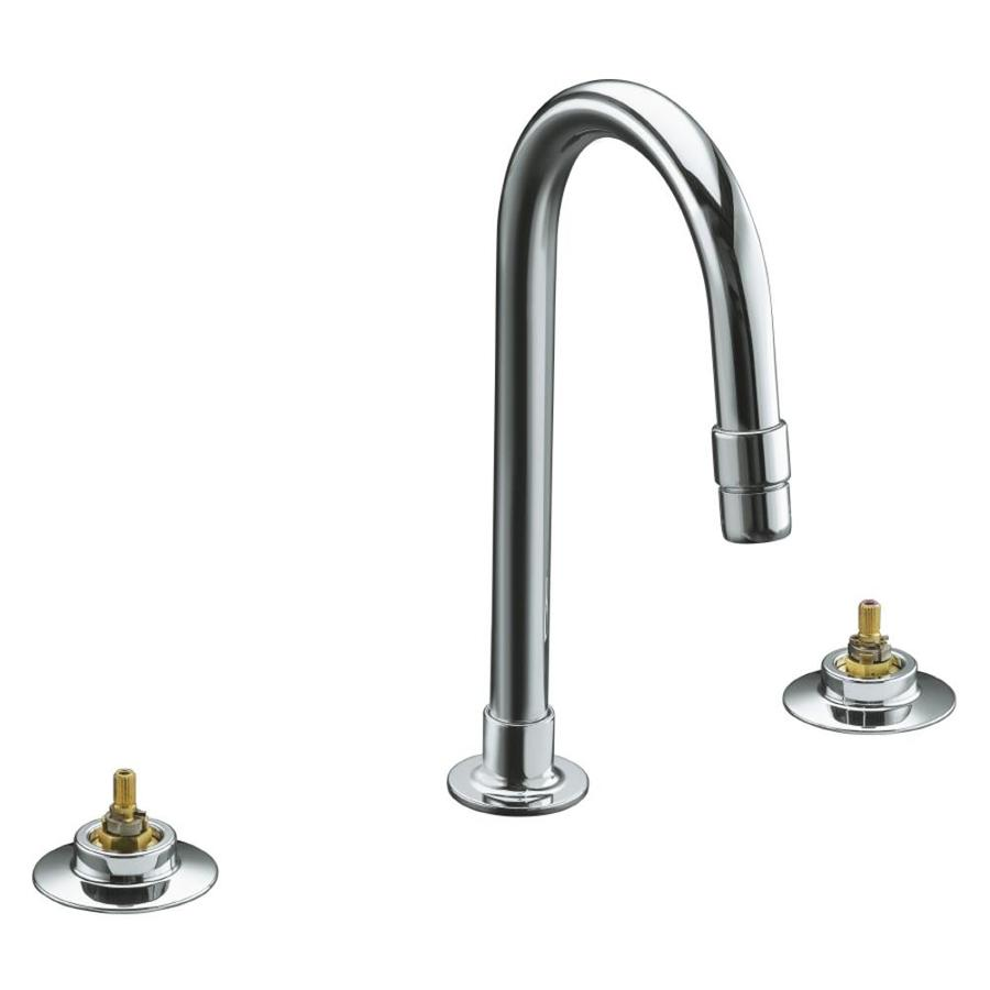 KOHLER Triton Polished Chrome 2-Handle Widespread Commercial Bathroom Faucet