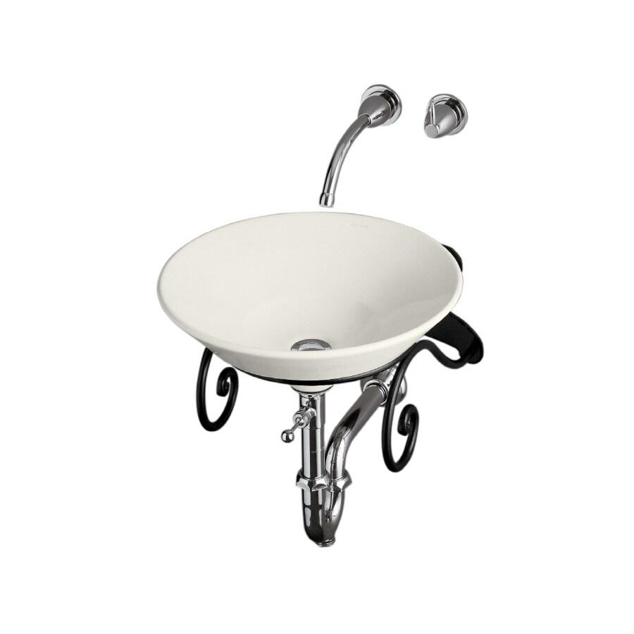 KOHLER Artist Edition Conical Bell Biscuit Vessel Round Bathroom Sink