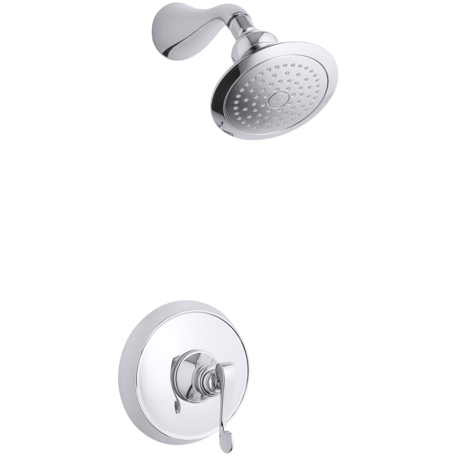 KOHLER Revival Polished Chrome 1-Handle Shower Faucet Trim Kit with Single Function Showerhead