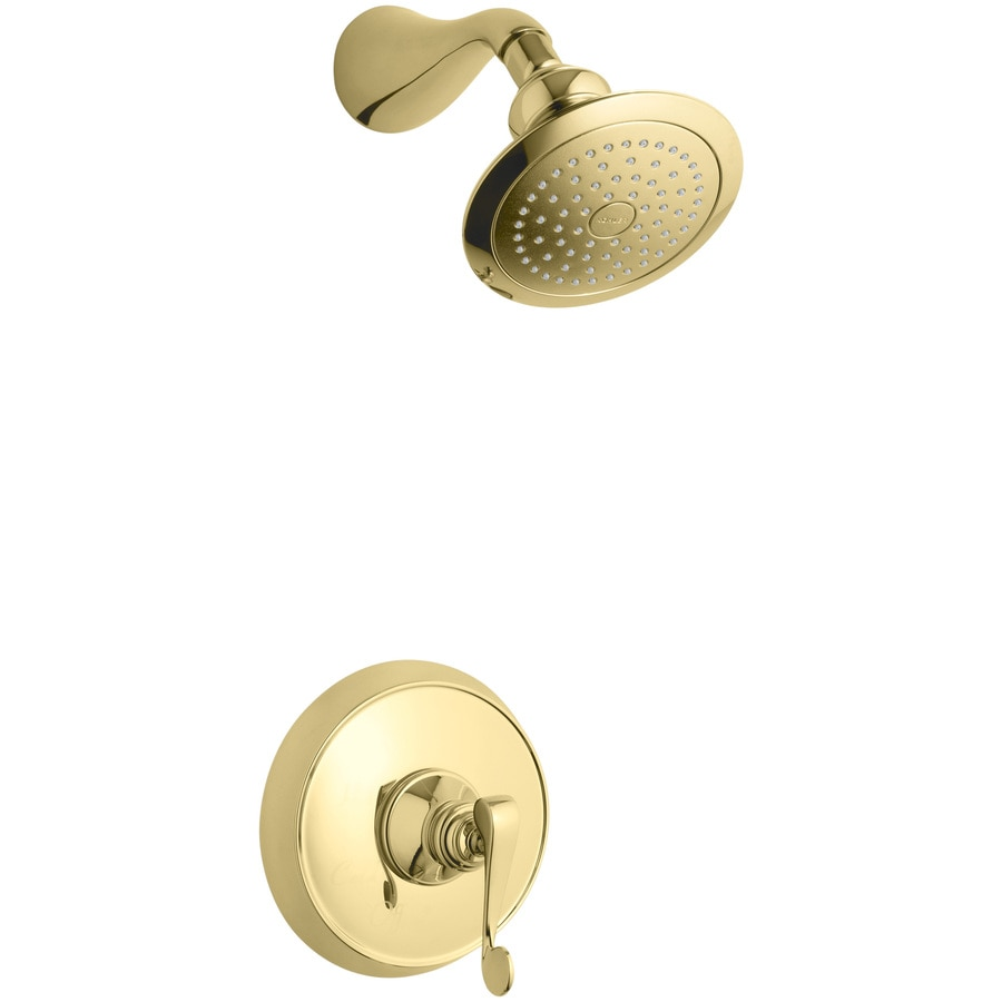 KOHLER Revival Vibrant Polished Brass 1-Handle Shower Faucet Trim Kit with Single Function Showerhead