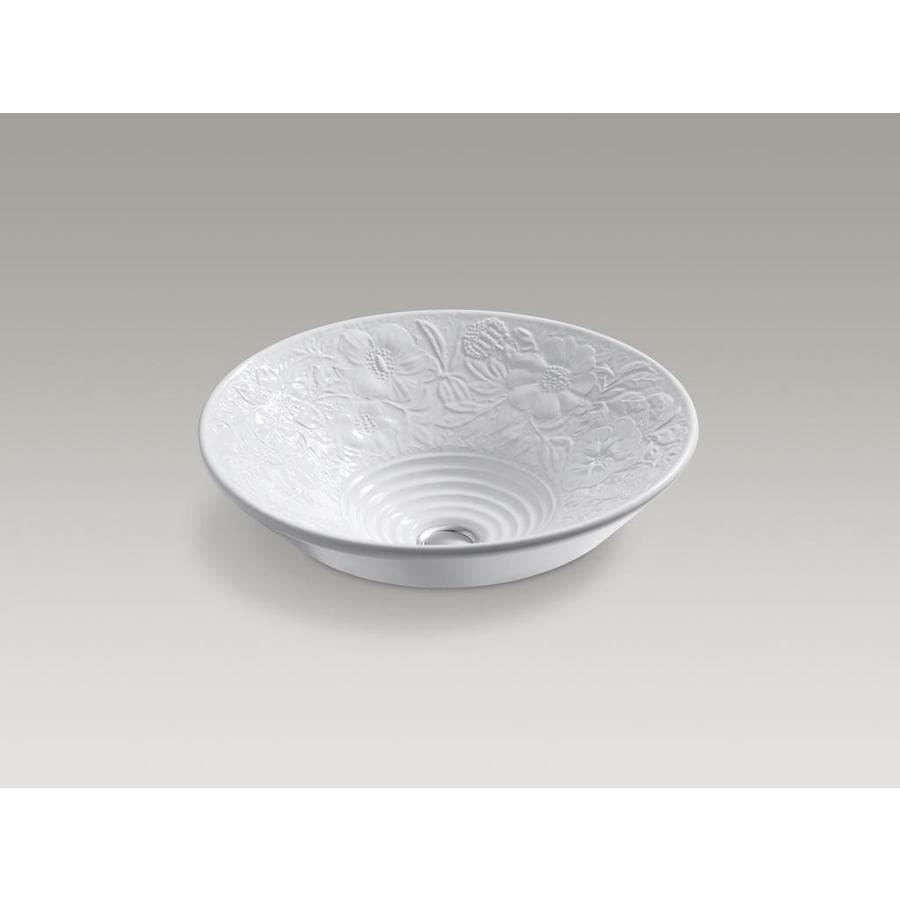 KOHLER Artist Edition Conical Bell White Vessel Round Bathroom Sink