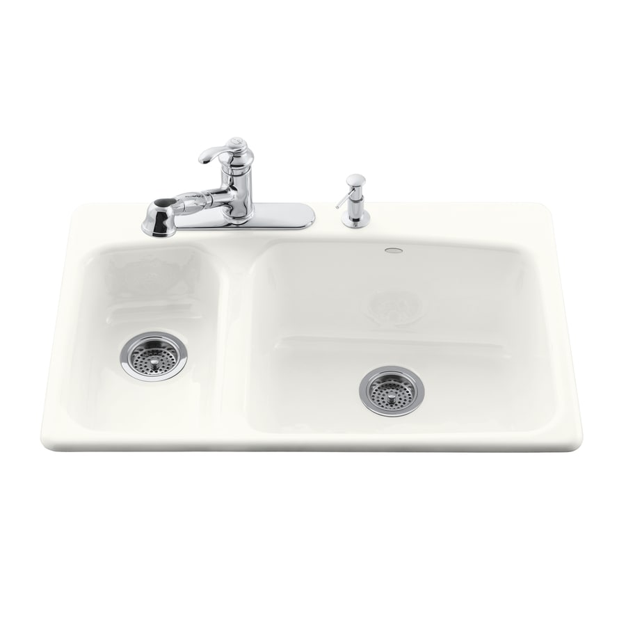 Shop Kohler Lakefield 22 In X 33 In White Double Basin