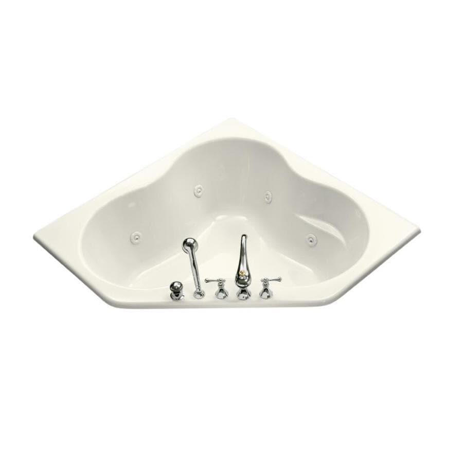 KOHLER Kohler Biscuit Acrylic Corner Whirlpool Tub (Common: 54-in x 54-in; Actual: 20.5000-in x 54.0000-in x 54.0000-in)
