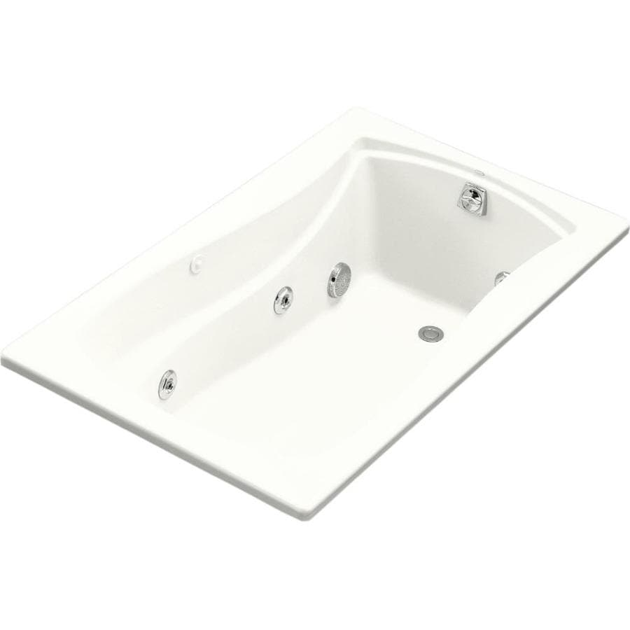 KOHLER Mariposa White Acrylic Rectangular Whirlpool Tub (Common: 36-in x 60-in; Actual: 20-in x 36-in x 60-in)