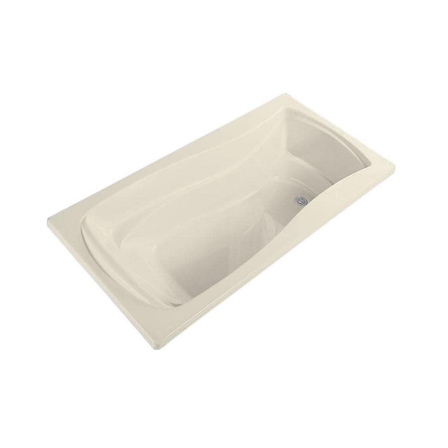 KOHLER Mariposa 60-in Almond Acrylic Drop-In Bathtub with Reversible Drain