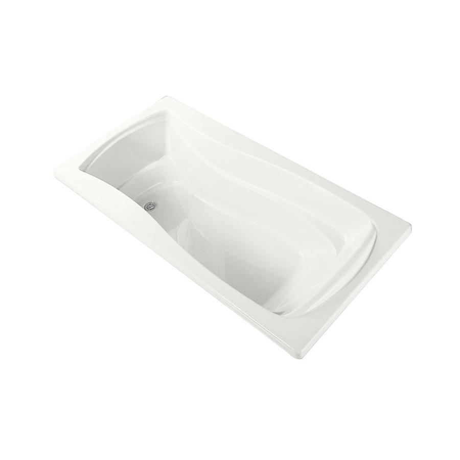 KOHLER Mariposa White Acrylic Hourglass In Rectangle Alcove Bathtub with Left-Hand Drain (Common: 36-in x 60-in; Actual: 20-in x 36-in x 60-in)