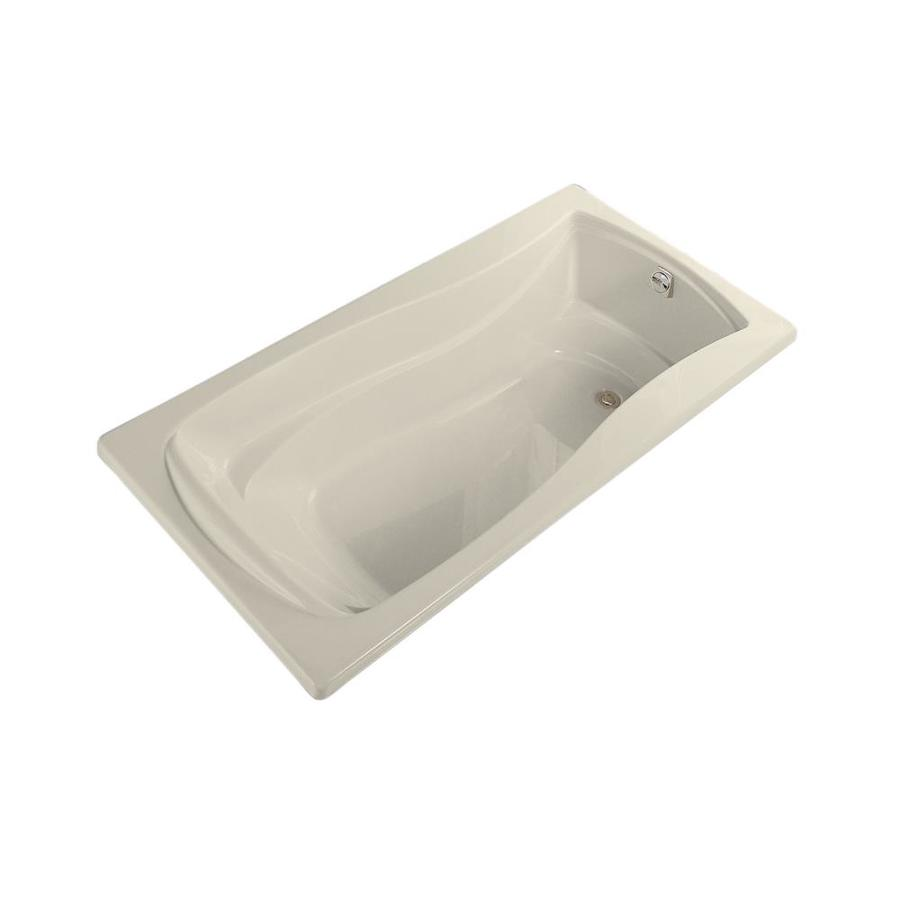 KOHLER Mariposa Almond Acrylic Hourglass In Rectangle Drop-in Bathtub with Reversible Drain (Common: 30-in x 72-in; Actual: 20-in x 30-in x 72-in)