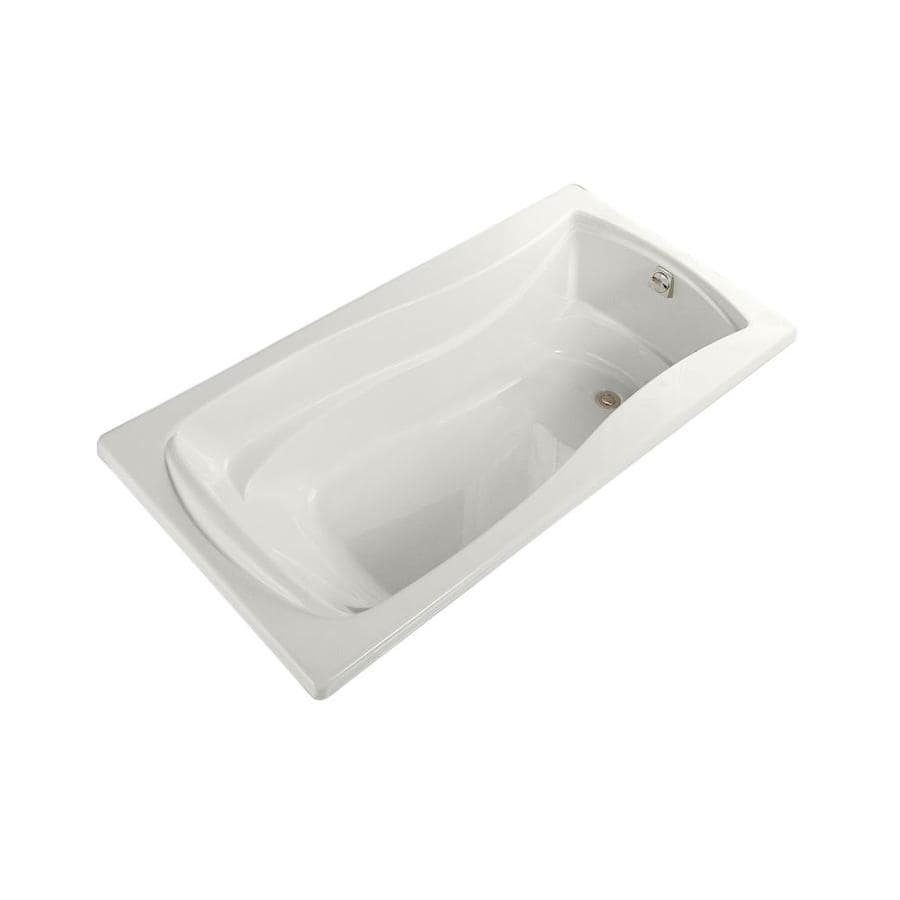 KOHLER Mariposa White Acrylic Hourglass In Rectangle Alcove Bathtub with Right-Hand Drain (Common: 36-in x 72-in; Actual: 20-in x 36-in x 72-in)
