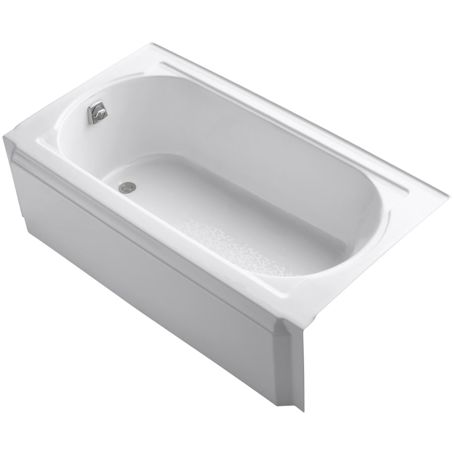 KOHLER Memoirs 60-in White Cast Iron Alcove Bathtub with Left-Hand Drain