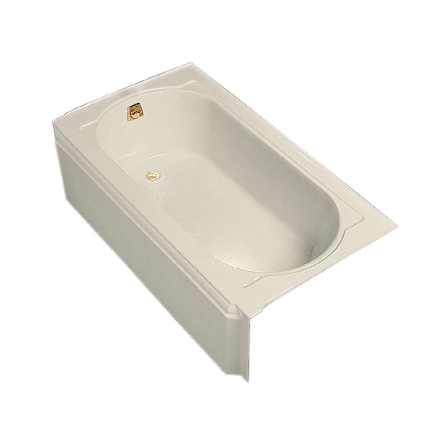 kohler memoirs almond cast iron oval in rectangle skirted bathtub with