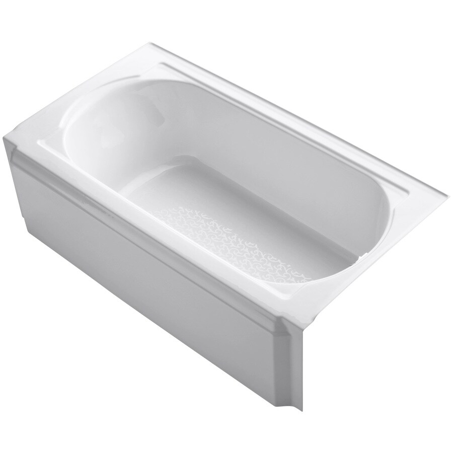 KOHLER Memoirs White Cast Iron Oval In Rectangle Skirted Bathtub with Right-Hand Drain (Common: 34-in x 60-in; Actual: 17.44-in x 33.75-in x 60-in)