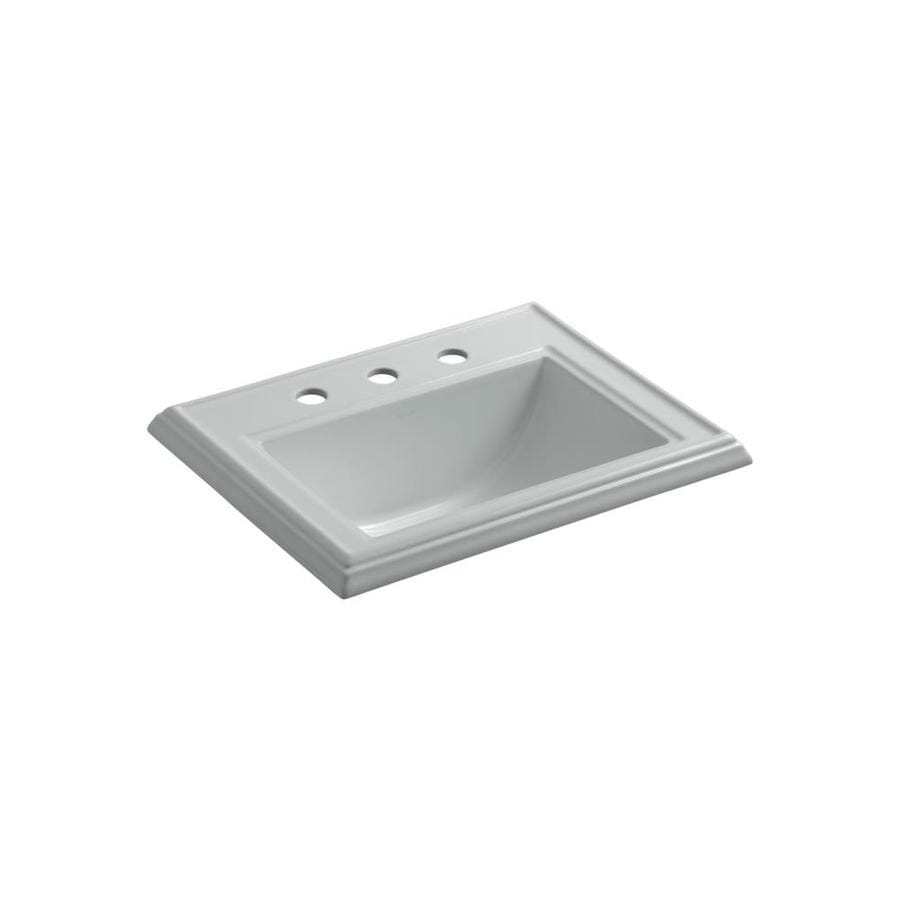 Shop Kohler Memoirs Biscuit Drop In Rectangular Bathroom Sink With Overflow At