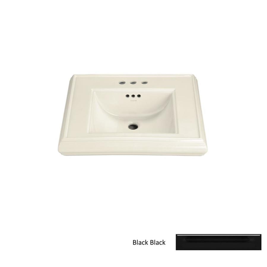 KOHLER 24-in L x 19.75-in W Black Fire Clay Pedestal Sink Top