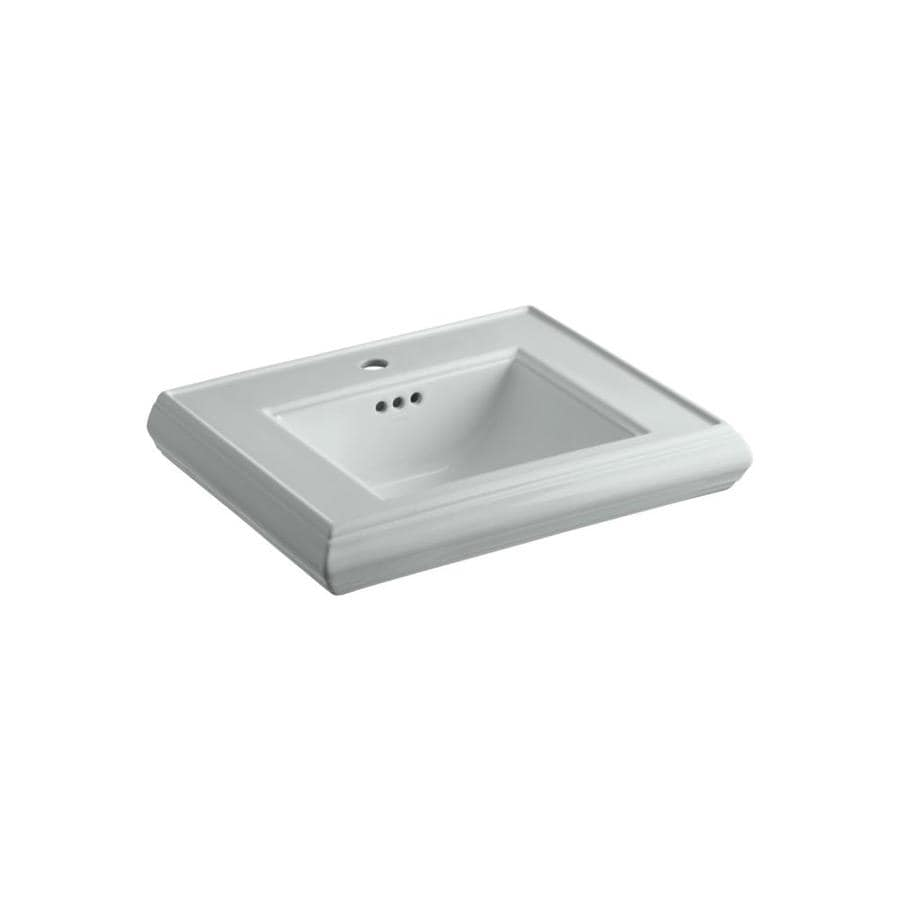 KOHLER Memoirs 24-in L x 19.75-in W Ice Grey Fire Clay Rectangular Pedestal Sink Top