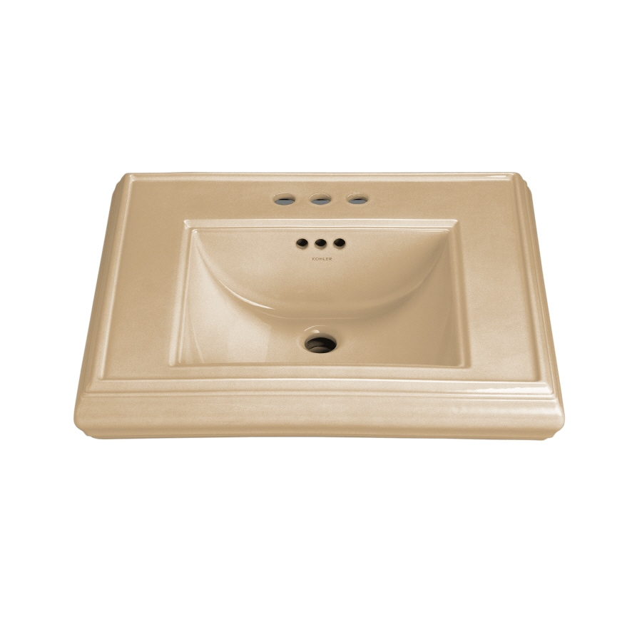 KOHLER 24-in L x 19.75-in W Mexican Sand Fire Clay Pedestal Sink Top