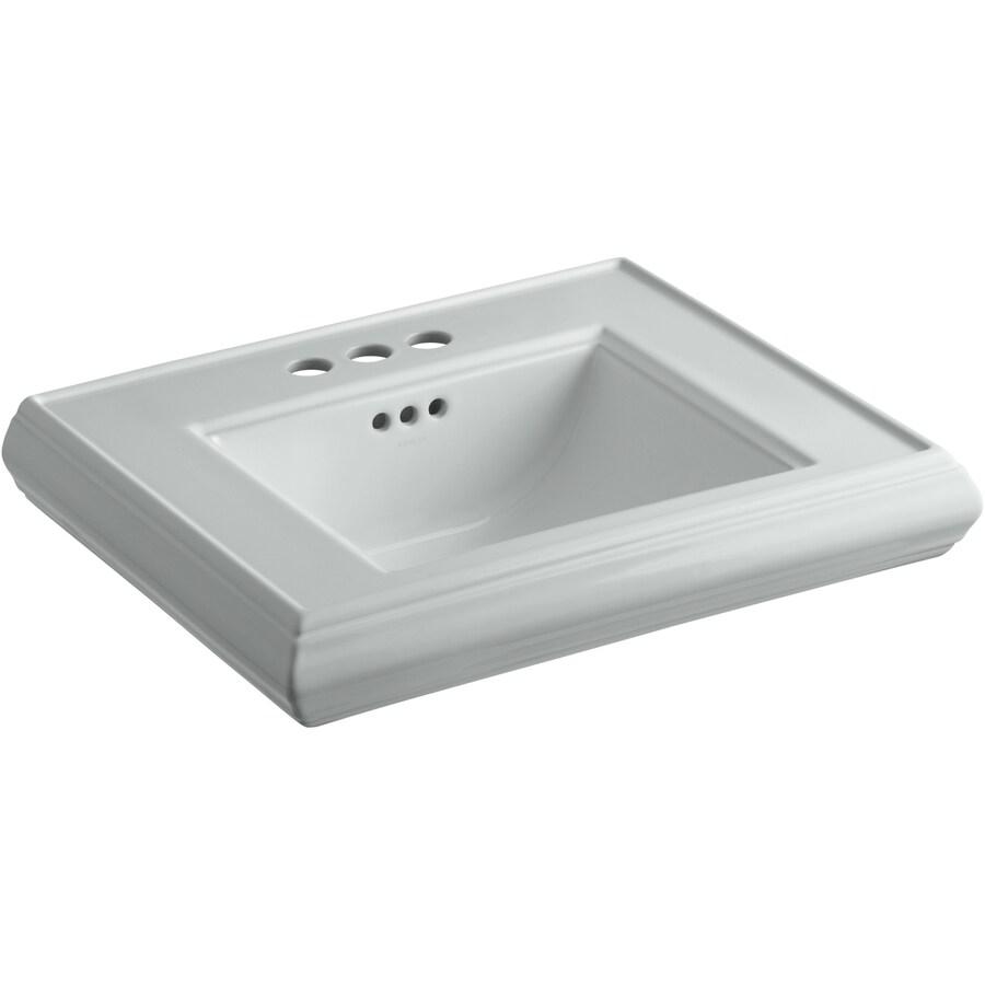 KOHLER 24-in L x 19.75-in W Ice Grey Fire Clay Pedestal Sink Top