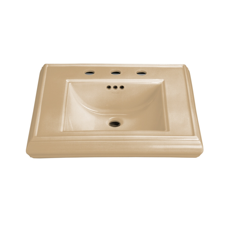 KOHLER Memoirs 24-in L x 19.75-in W Mexican Sand Fire Clay Rectangular Pedestal Sink Top