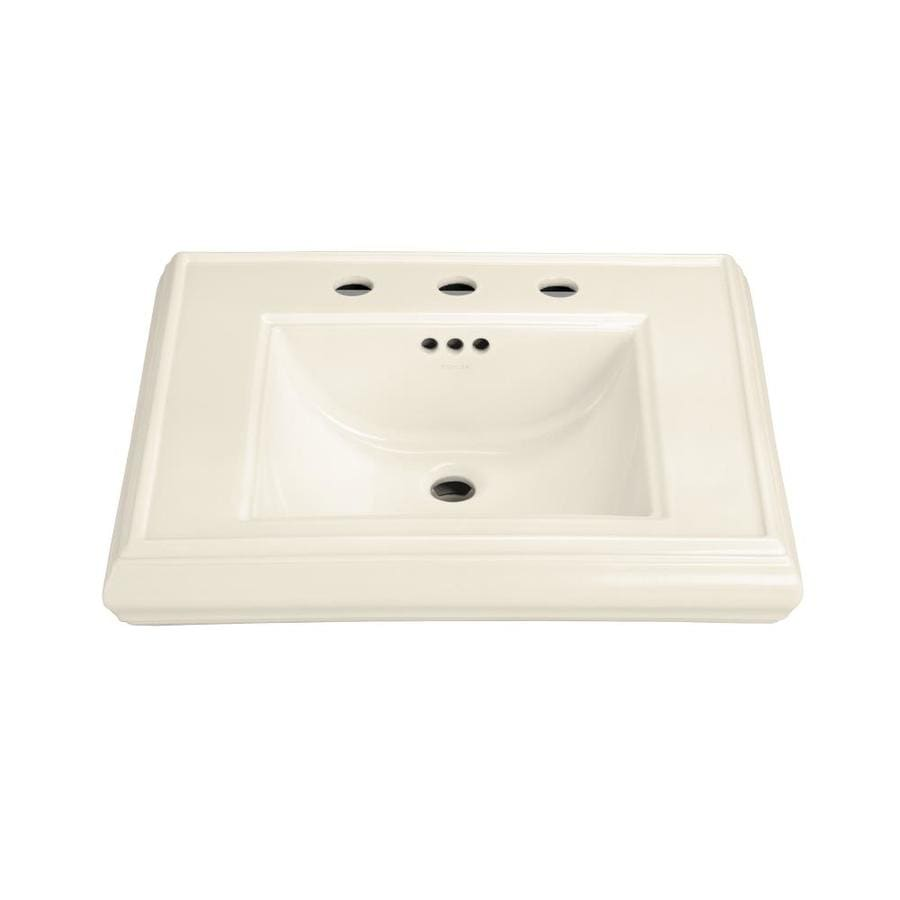 Kohler Memoirs 24 Pedestal Sink : Shop KOHLER Memoirs 24-in L x 19.75-in W Almond Fire Clay Rectangular ...