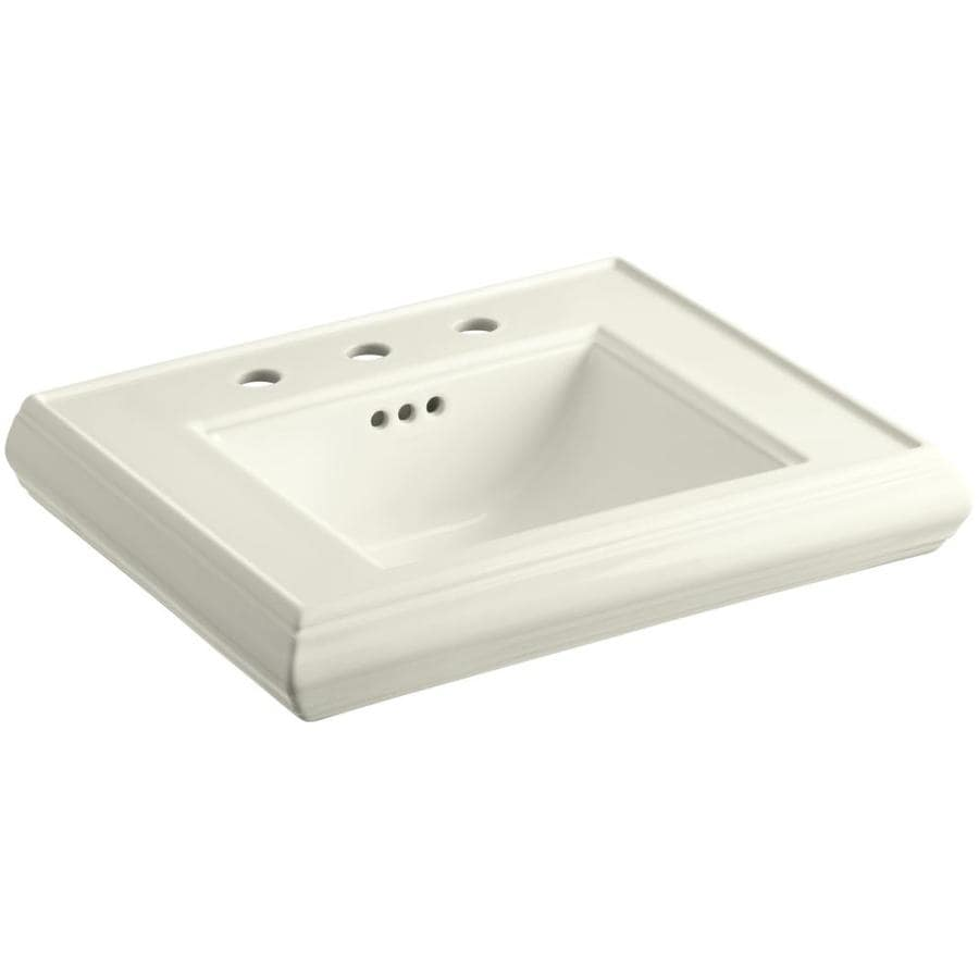 Kohler Memoirs 24 Pedestal Sink : Shop KOHLER Memoirs 24-in L x 19.75-in W Biscuit Fire Clay Rectangular ...