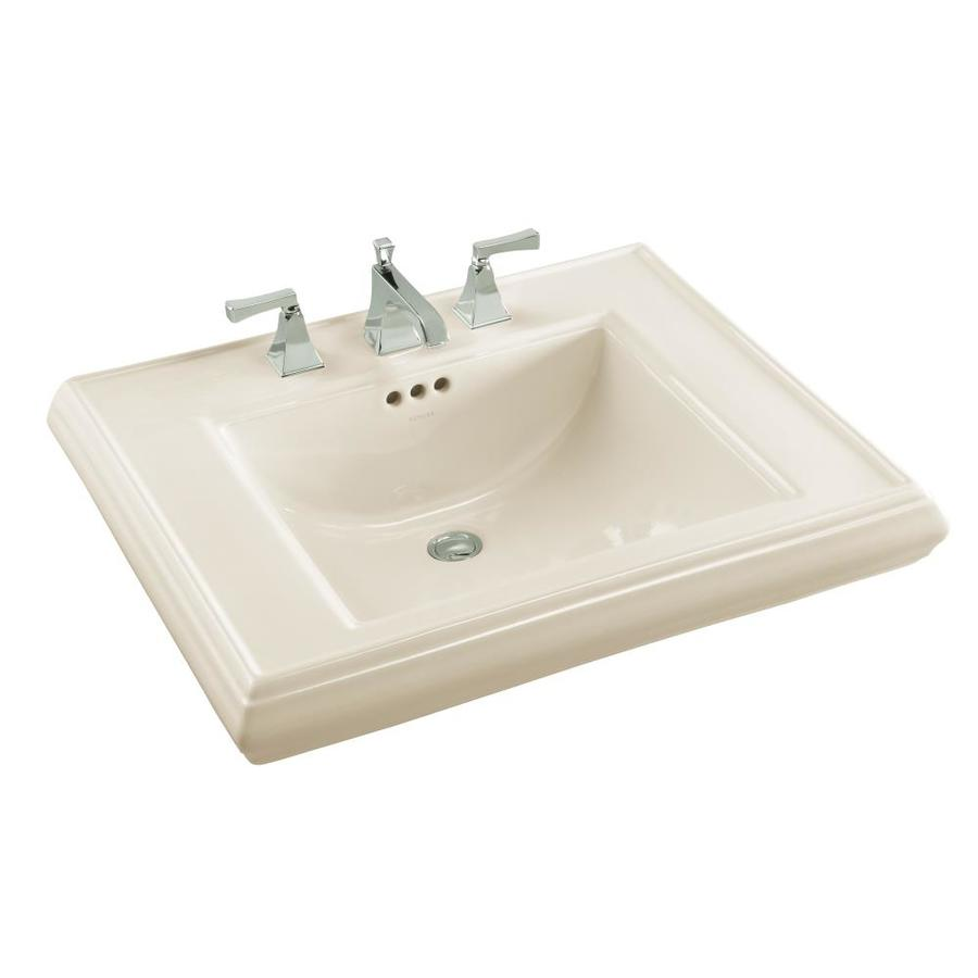 KOHLER Memoirs 27-in L x 22-in W Biscuit Fire Clay Rectangular Pedestal Sink Top