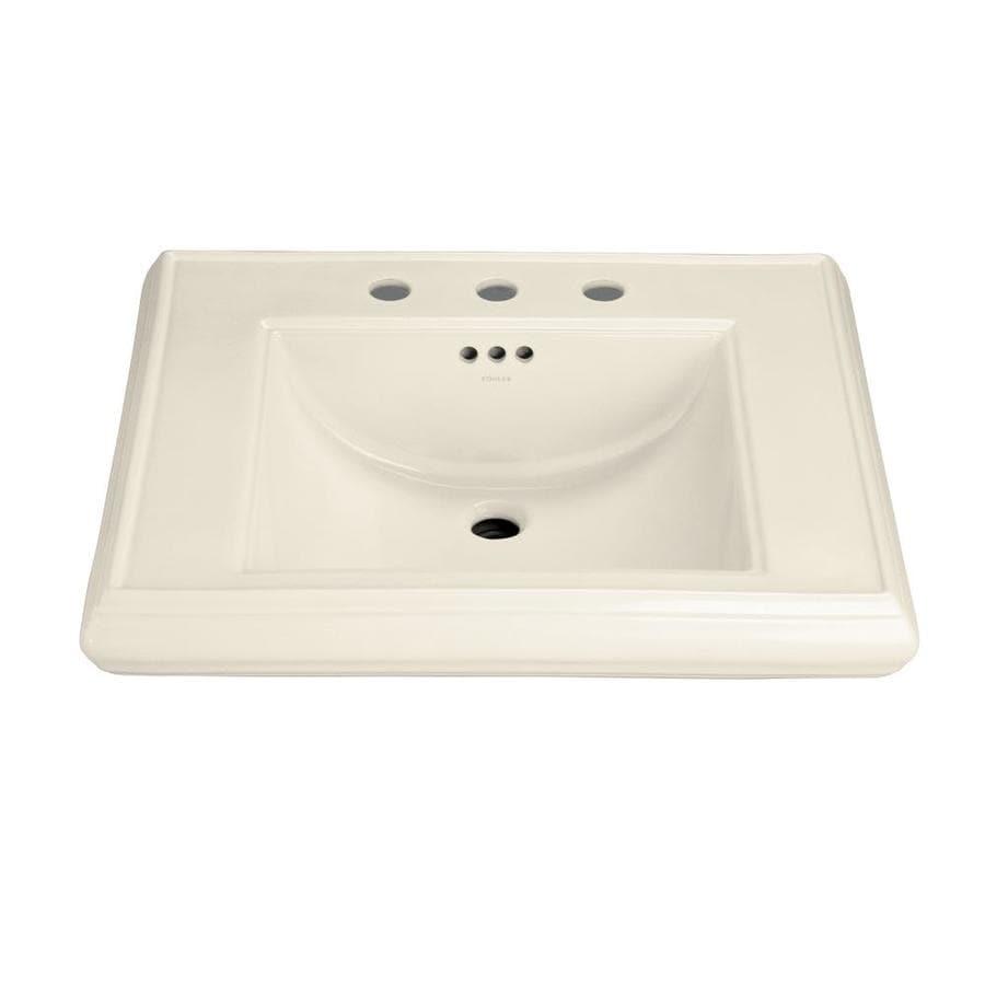 KOHLER Memoirs 27-in L x 22-in W Almond Fire Clay Rectangular Pedestal Sink Top