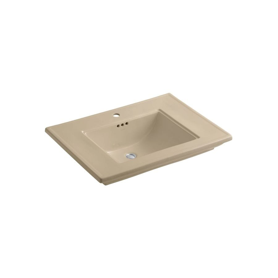 KOHLER Memoirs 30-in L x 21.75-in W Mexican Sand Fire Clay Rectangular Pedestal Sink Top