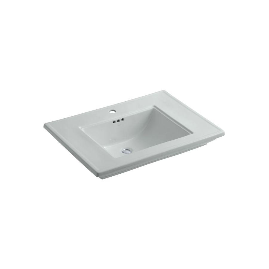 KOHLER Memoirs 30-in L x 21.75-in W Ice Grey Fire Clay Rectangular Pedestal Sink Top