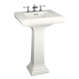 KOHLER Memoirs 34.38 In H White Fire Clay Pedestal Sink