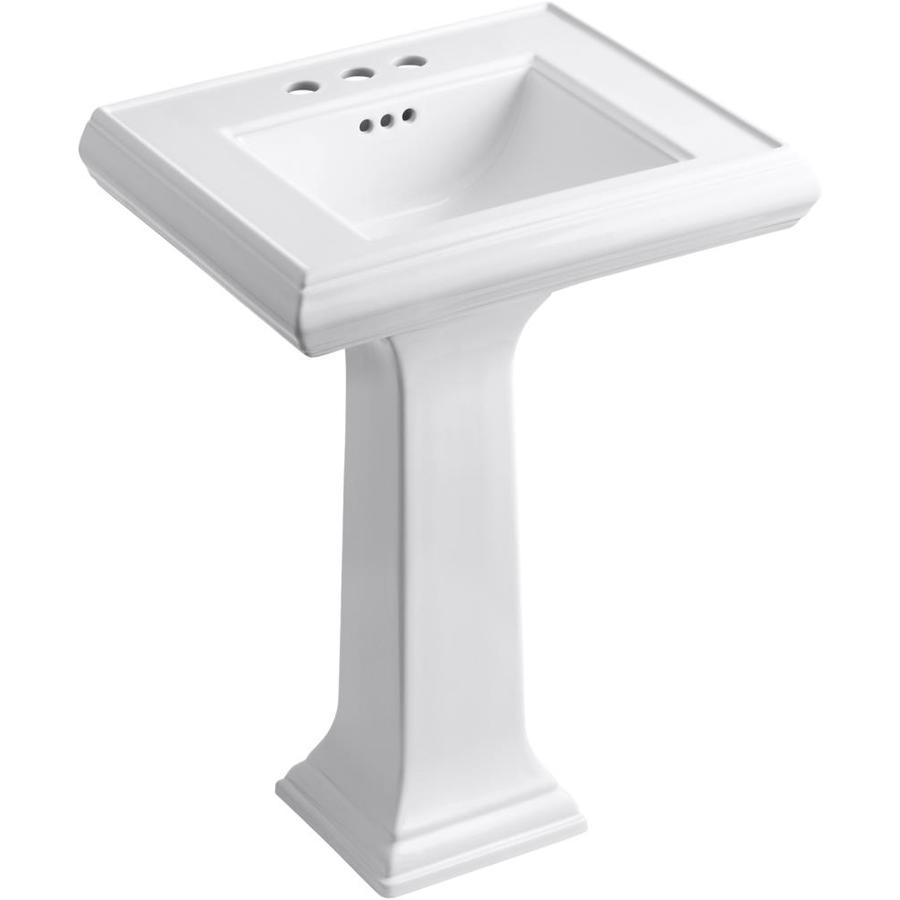 surprising Kohler Pedestal Sinks Memoirs Part - 6: KOHLER Memoirs 34.375-in H White Fire Clay Pedestal Sink