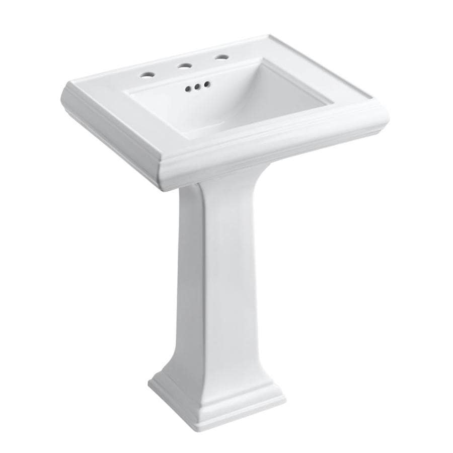 KOHLER Memoirs 34.38-in H White Fire Clay Pedestal Sink