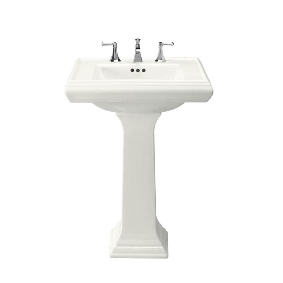 Shop KOHLER Memoirs 35-in H White Fire Clay Pedestal Sink at Lowes.com