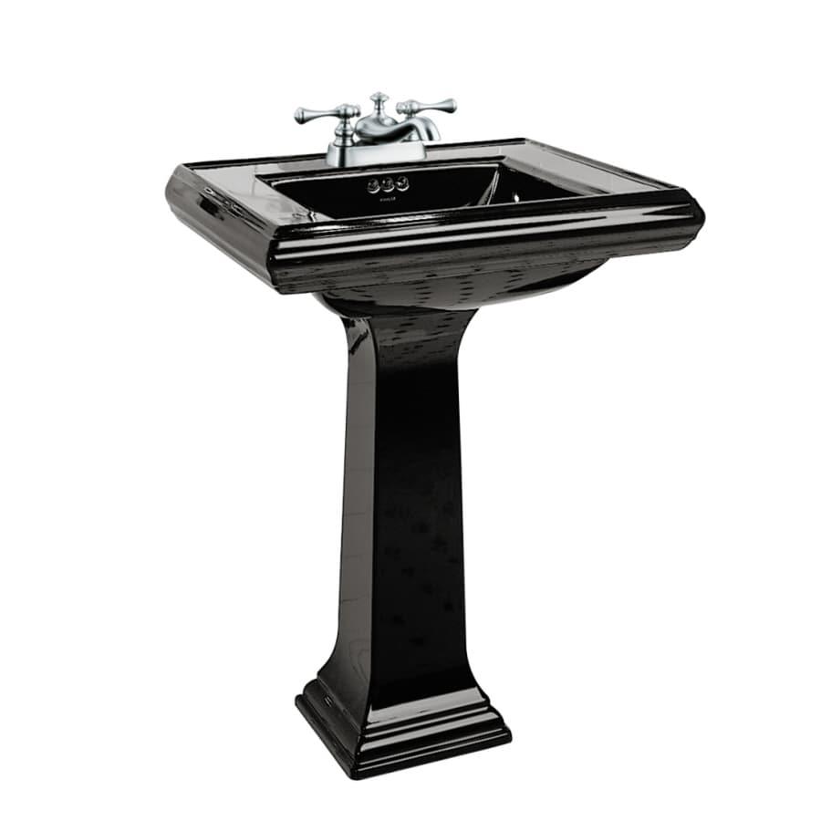 KOHLER Memoirs 35-in H Thunder Grey Fire Clay Pedestal Sink