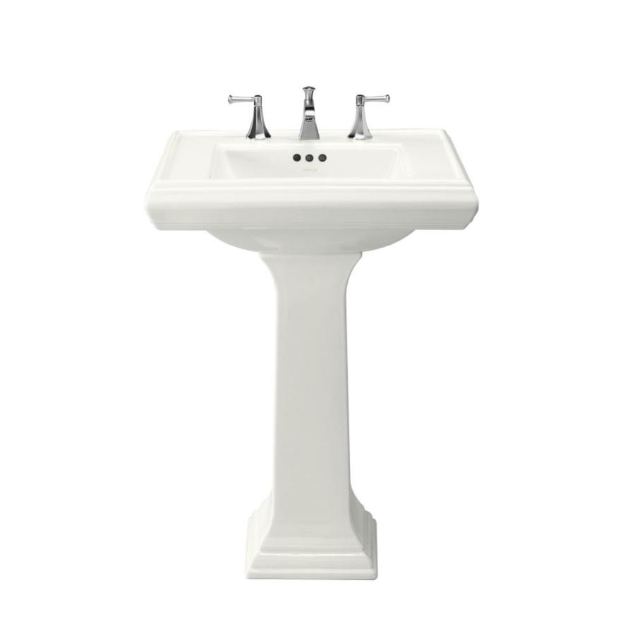 Shop Kohler Memoirs 35 In H White Fire Clay Pedestal Sink