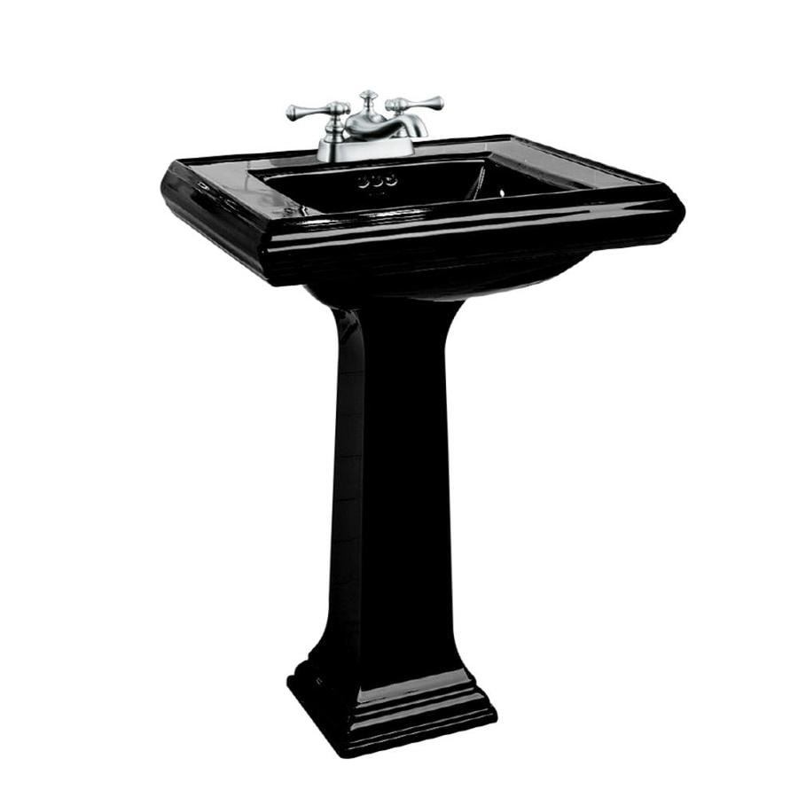 shop kohler memoirs 35 in h black fire clay pedestal sink. Black Bedroom Furniture Sets. Home Design Ideas